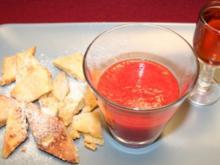 Vanillemilch-Schmarrn mit Erdbeersalat - Rezept