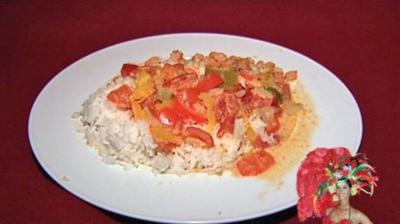 Brasilianische Fischpfanne mit Reis (Micaela Schäfer) - Rezept