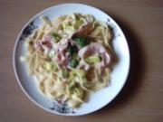 Pastasoße: Lauch-Schinken-Sahnesoße - Rezept