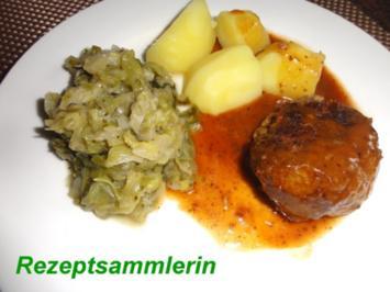 Fleisch:  FRIKADELLEN mit Sauce - Rezept