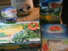 Tortellini mit Spinat-Gorgonzola-Sauce - Rezept
