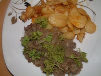 Gebratene Leberwurst mit Bratkartoffeln - Rezept