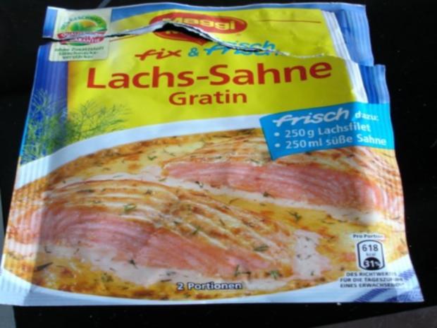 Lachs-Sahne Gratin mit Reis und Salat - Rezept - Bild Nr. 4