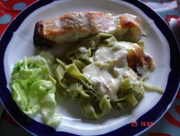 Lachs-Sahne Gratin mit Reis und Salat - Rezept - Bild Nr. 10