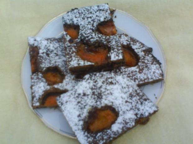 Schoko-Nuss-Aprikosenkuchen - Rezept