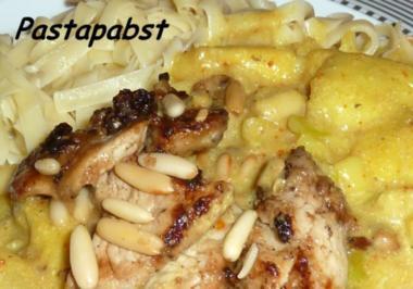 Rezept: Asia Ananas-Mango-Wok