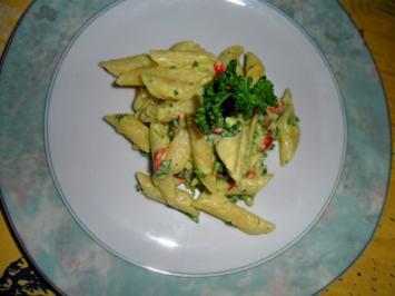 Pasta mit Avocado-Limetten-Sauce - Rezept