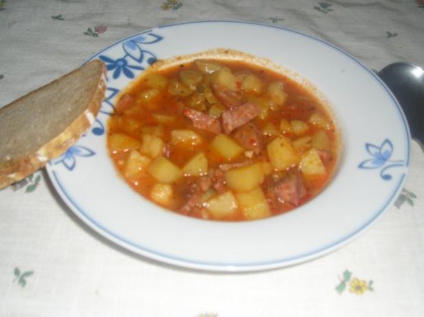 Wurstgulasch - Rezept