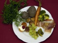 Fromagerie-Trilogy an rotem Erdapfel und Herbstgemüse mit Mandarine-Senf-Chutney (Charlotte Karlinder) - Rezept - Bild Nr. 9