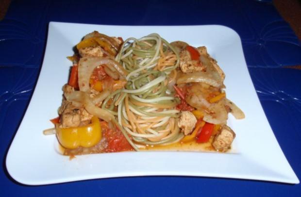 Puten-Paprika-Fenchel-Pfanne mit Spaghetti - Rezept - Bild Nr. 10