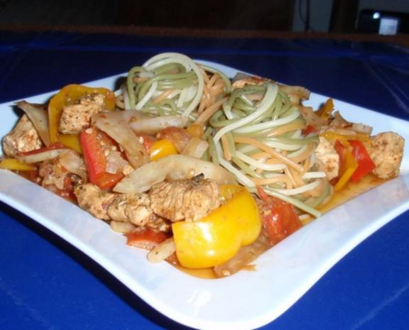 Puten-Paprika-Fenchel-Pfanne mit Spaghetti - Rezept - Bild Nr. 11