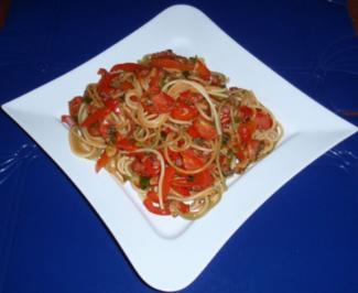 Bunte Spaghetti-Gemüse-Pfanne - Rezept