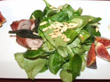 Kalbsinvoltini mit Parmaschinken und Salbei auf Salat mit frischen Feigen - Rezept