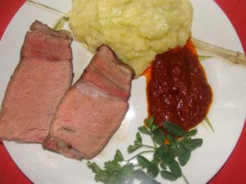Fleisch : Rosa gebratenes, gespritztes Ochsenkotelett XXL - Rezept
