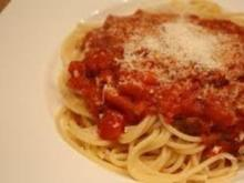 Spagetti mit Tomatenhack - Rezept
