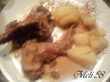 Fleisch: Kaninchen in Senfsoße - Rezept