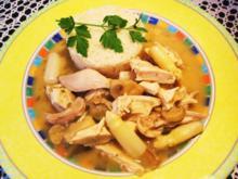 Hühnchenfleisch mit Reis - Rezept