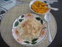 Süße Mahlzeiten : Milchreis mit Pfirsichen - Rezept