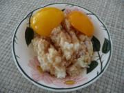 Resteverwertung : ...vom Milchreis mit Pfirsichen als Dessert - Rezept