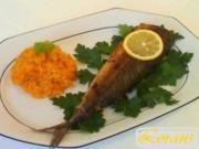 Ruzz  ahmar mit gebratenem Fisch - Rezept