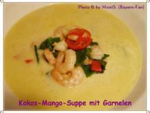 Kokos-Mango-Suppe mit Garnelen - Rezept