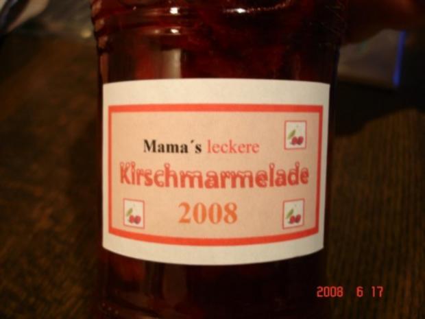 Kirschmarmelade - Rezept