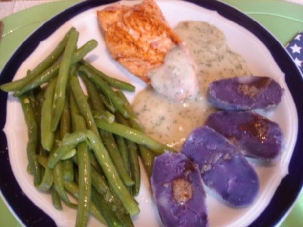 Lachsfilet mit Dillsauce, grünen Bohnen und Kartoffeln - Rezept - Bild Nr. 14