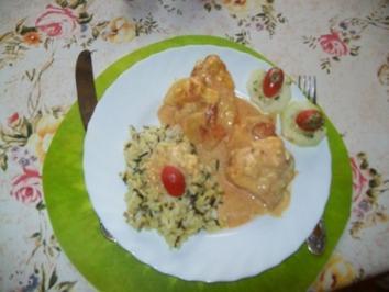 Putenschnitzel mit Ananas im Ofen überbacken mit Wildreis - Rezept