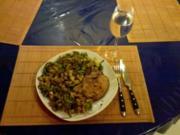 Fleisch: Asiakotelett mit Lauchnudeln - Rezept