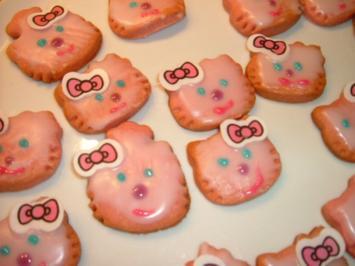 Hello Kitty  Butterkekse für Mädels ca.40 Stück - Rezept