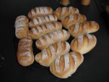 Baguette-Brötchen - Rezept