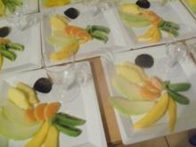 Indisches Dinner - Exotische Früchte mit Mangozimtjoghurtcreme - Rezept