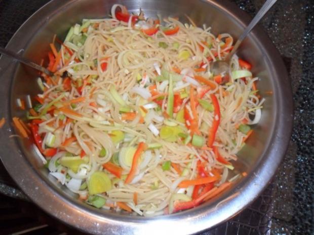 bunter spaghettisalat - Rezept
