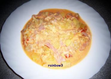 Auflauf: Kartoffeln mit Kochschinken - Rezept