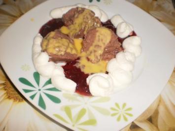 Rezept: Pudding an rote Grütze