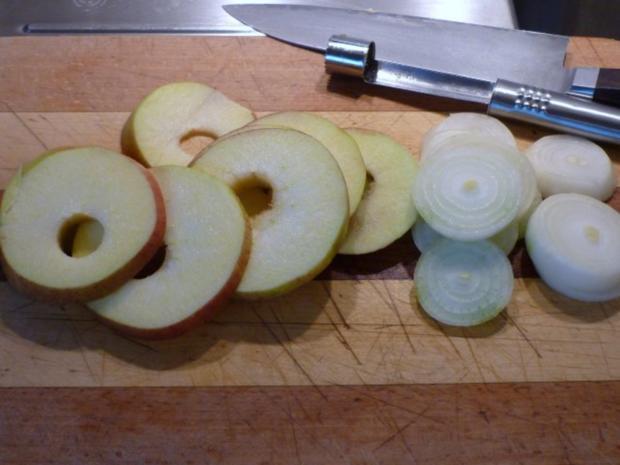 Gänsebrust in Apfel – Zwiebel – Rotweinsoße - Rezept - Bild Nr. 2