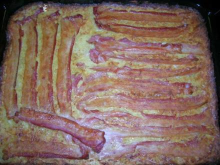 Kartoffel-Blechkuchen mit Bacon - relativ schnell gezaubert und sehr lecker - Rezept