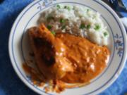 Hühnerbrust mit Paprika-Zwiebel Sauce - Rezept