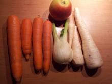 Möhrenrohkost mit Petersilenwurzel, Fenchel und Apfel - Rezept