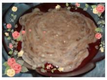 Dessert : Vanillepudding im Zwetschgen - Kompott mit Hicks - Rezept