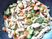 Gemischtes Wok -Gemüse mit Schweinefleisch - Rezept