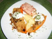 Paprika-Sauerkraut- Schiffchen - Rezept