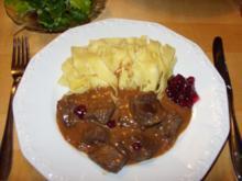 D: Hirschgulasch - Rezept
