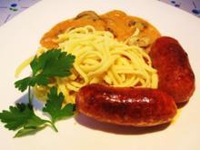 Chorizo mit einer milden Champignon-Wein-Soße - Rezept