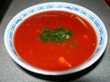 Chinesische Tomatensuppe mit Hühnerfleisch - Rezept