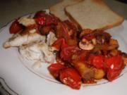 Seehecht an Balsamico-Schmorgemüse - Rezept