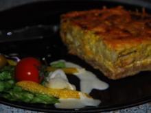 Spargel-Blumenkohl-Tarte mit Hähnchen - Rezept