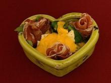 Rapunzel in Rom - Feldsalat mit Parmaschinken und Melonendressing (René Oltmann) - Rezept