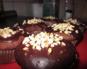 Schokomuffins mit cremiger Füllung aus weißer Schokolade - Rezept