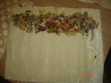 Pilzsalat im Blätterteig - Rezept
